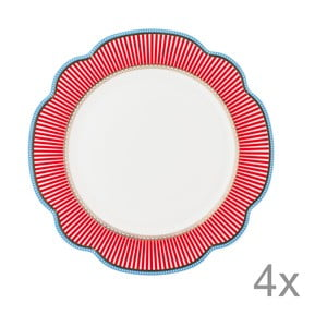 Porcelánový tanier Happy od Lisbeth Dahl, 24 cm, 4 ks