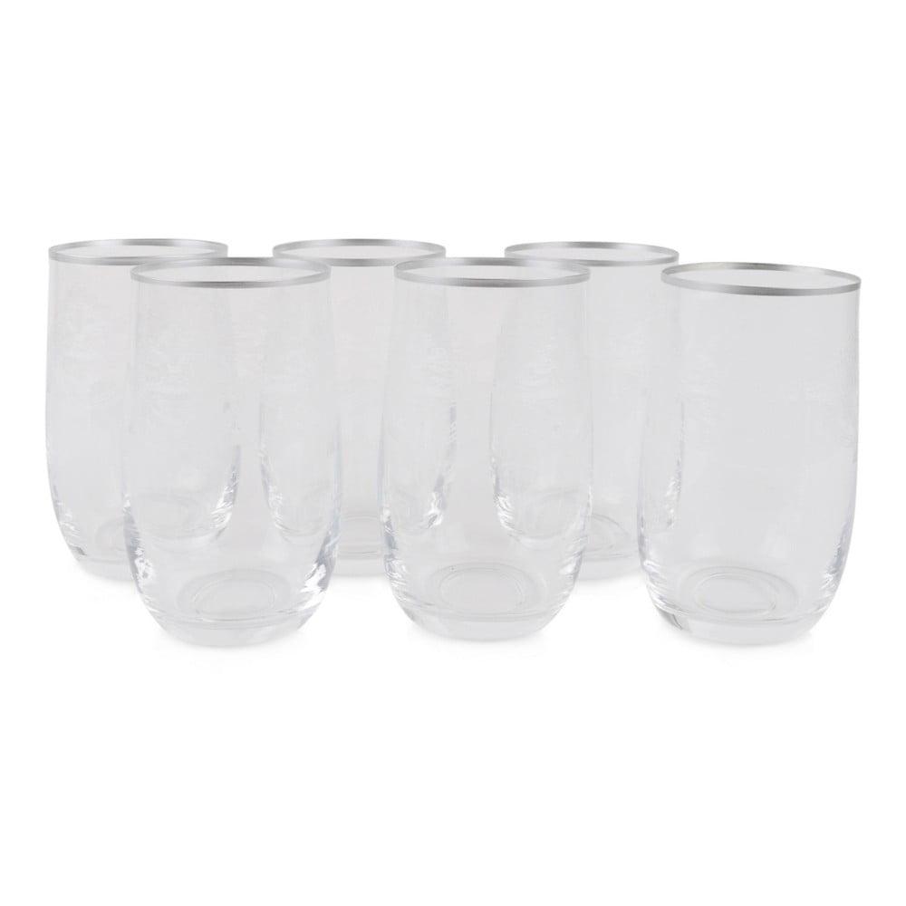 Sada 6 sklenených pohárov Malamati
