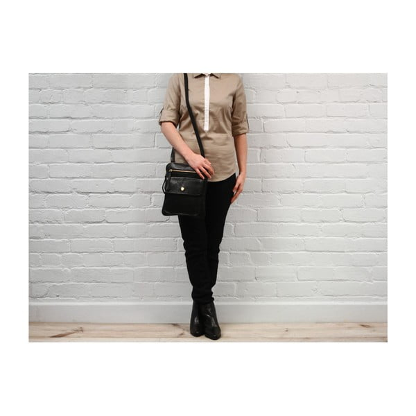Dámska kožená taška Tess Black