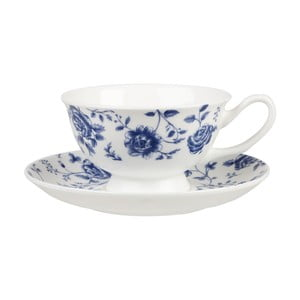 Hrnček s tanierikom Churchill China Blue Story Grace Rose, 200 ml