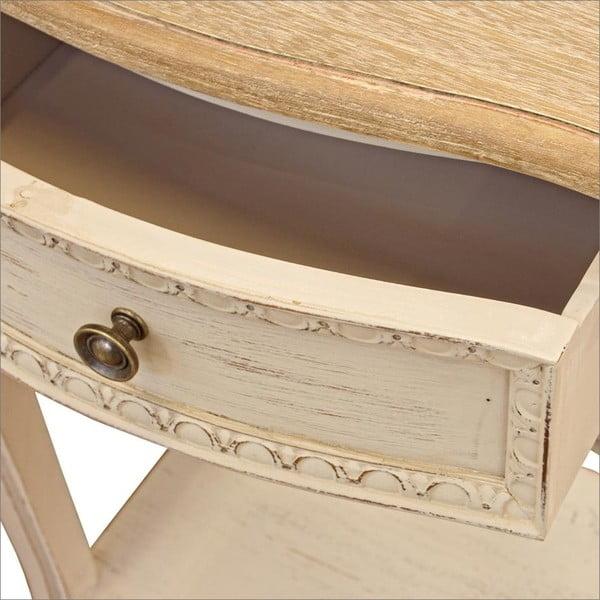 Nočný stolík s konštrukciou z dreva paulovnia a zásuvkou Bizzotto Clarisse