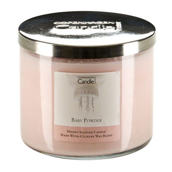 Aromatická sviečka Copenhagen Candles Baby Powder, doba horenia 50hodín