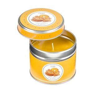 Aroma sviečka v plechovke Sweet Orange & Amber, doba horenia 32 hodín
