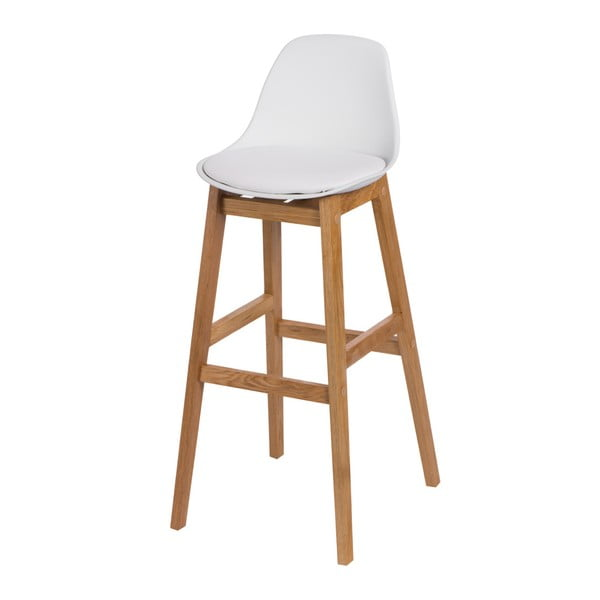 Barová stolička D2 Norden Wood, biela
