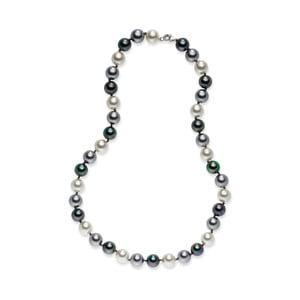 Perlový náhrdelník Nova Pearls Copenhagen Brigitte Dark