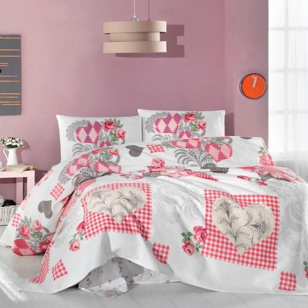 Set prikrývky, prestieradla a obliečok na vankúše Pink Angel, 200x230 cm