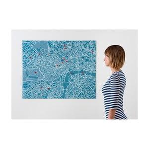 Modrá nástenná mapa Palomar Pin Londýn
