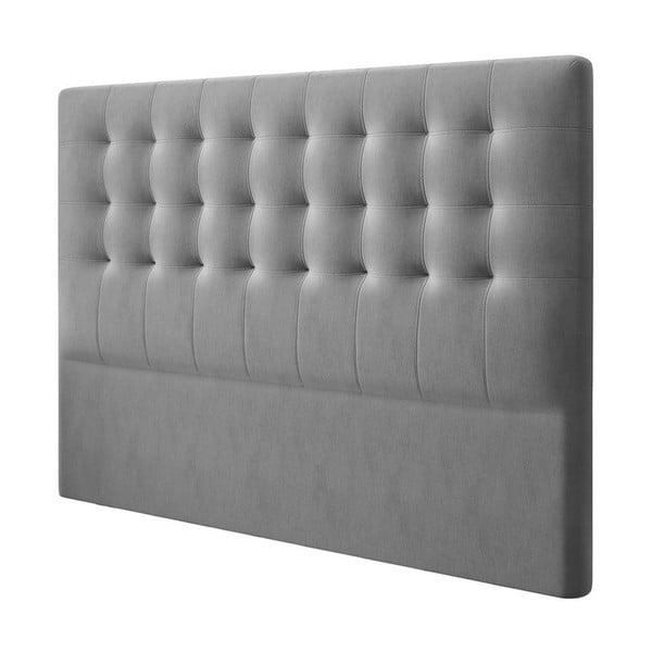 Sivé čelo postele so zamatovým poťahom Windsor & Co Sofas Athena, 200×120 cm