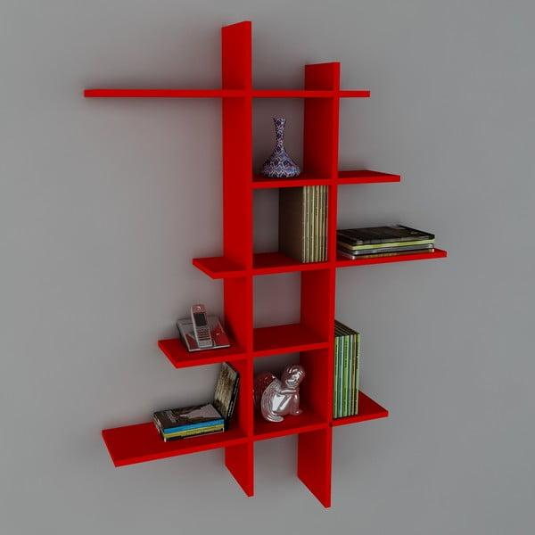 Polica Atlanta Book Red, 22x90x150 cm