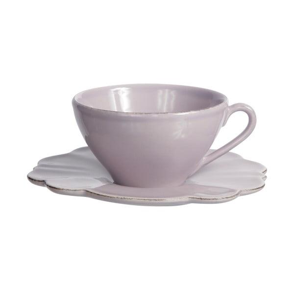 Šálka s tanierikom Lilac Petale, 250 ml