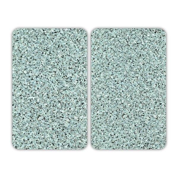 Sklenený kryt na sporák Granite, 2 ks