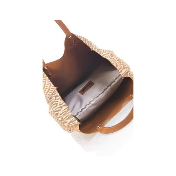 Oboustranná kožená kabelka Krole Korrine, koňak