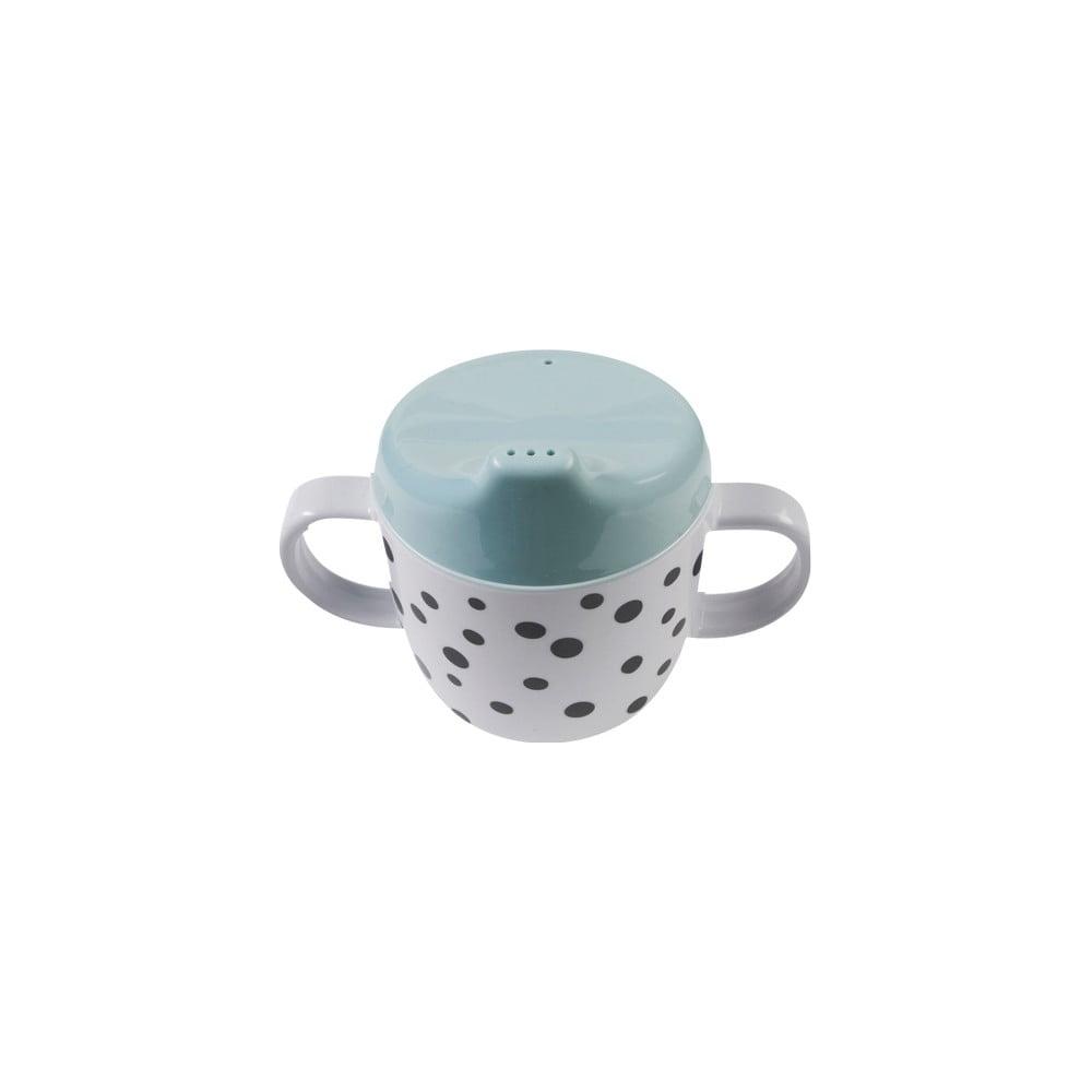 Hrnček s uškami a modrým náustkom Done by Deer Happy Dots, 170 ml