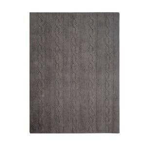 Sivý bavlnený ručne vyrobený koberec Lorena Canals Braids, 120 x 160 cm