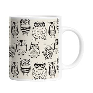 Keramický hrnček Clever Owls, 330 ml