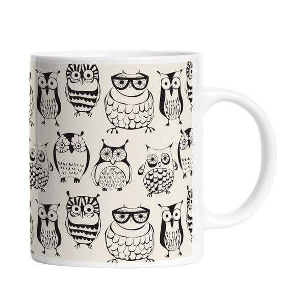 Hrnček Clever Owls, 330 ml