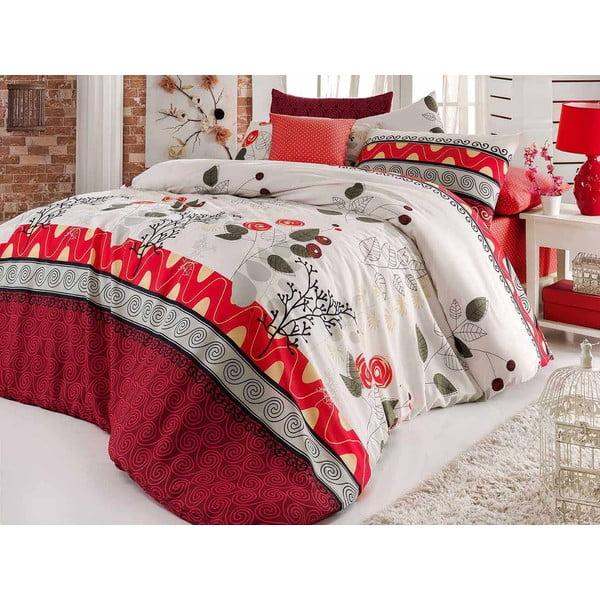 Obliečky s plachtou Linda Red, 160x220 cm