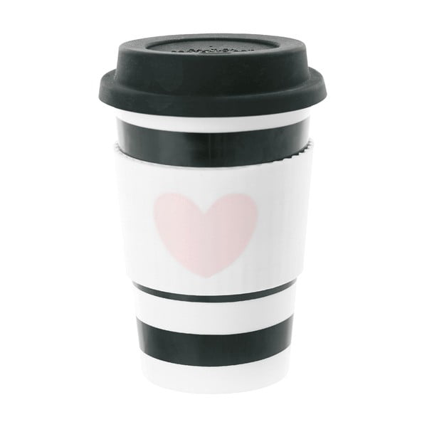 Keramický cestovný hrnček Heart Rose, 0,5 l