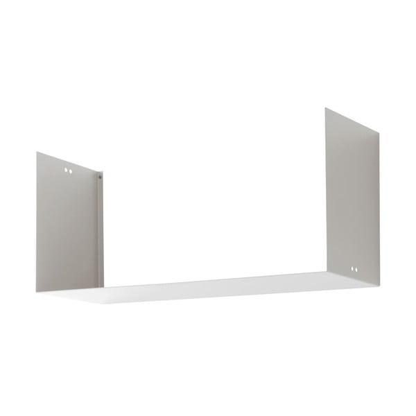 Nástenná polica Geometric Three, biela