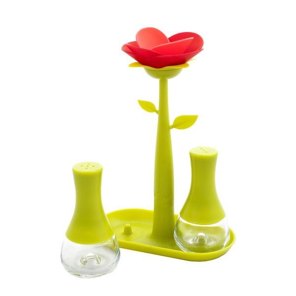 Soľnička a korenička Vigar Green Flower