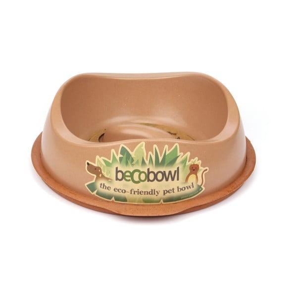 Miska pre psíkov/mačky Beco Bowl 28,5 cm, hnedá