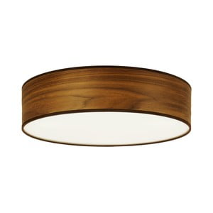Stropné svietidlo z prírodnej dyhy vofarbe orechového dreva Sotto Luce TSURI, Ø40 cm