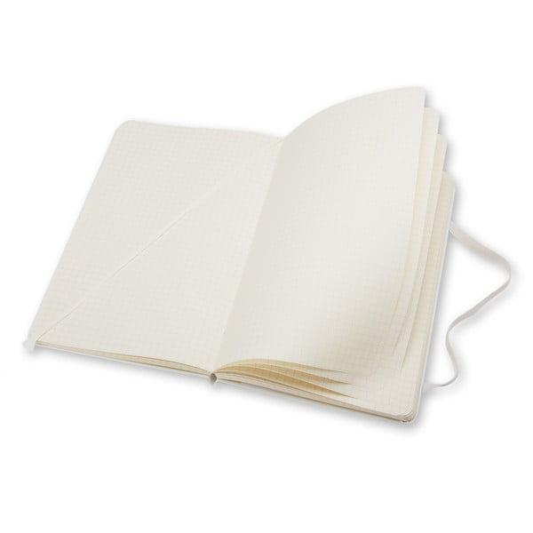 Zápisník Moleskine Hard 21x13 cm, bílý + štvorčekové stránky