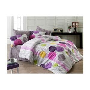 Farebné bavlnené obliečky s plachtou Cathrine, 200x220cm