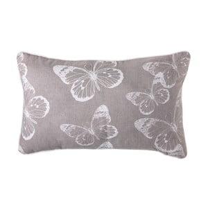 Vankúš Butterfly Grey, 50x30 cm