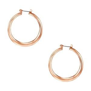 Dámske kruhové náušnice vo farbe ružového zlata Runaway