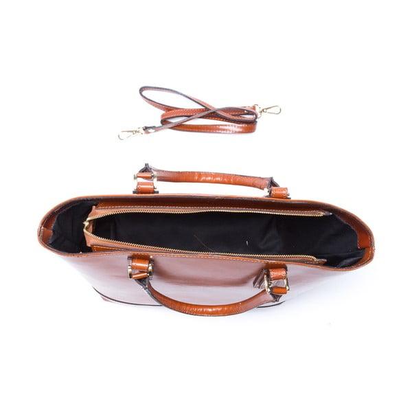 Kožená kabelka Marina 3016 Cognac