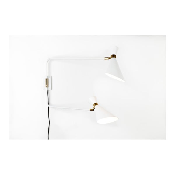 Biela nástenná lampa Zuiver Shady Double