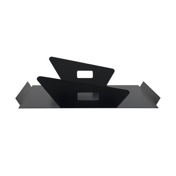 Kovový podnos Gie El 50x43 cm, čierny
