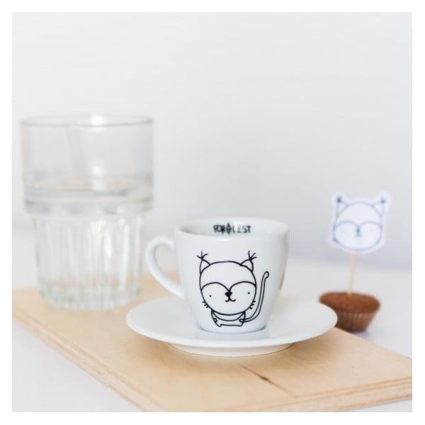 Hrnček na espresso s tanierikom Lynx, 100 ml
