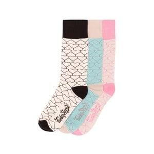 Sada 3 párov farebných ponožiek Funky Steps Geometric, veľ. 35-39