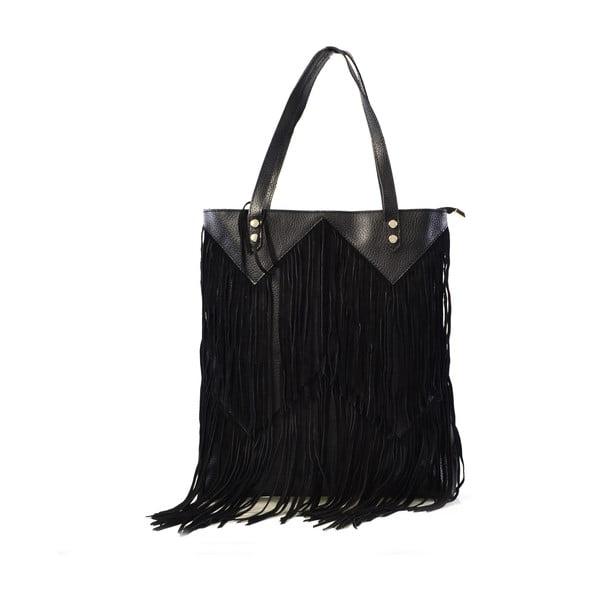 Kožená kabelka Michelle, čierna