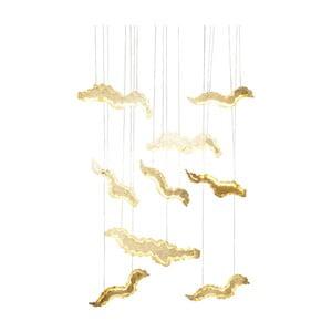 Stropné svietidlo v zlatej farbe Kare Design Float