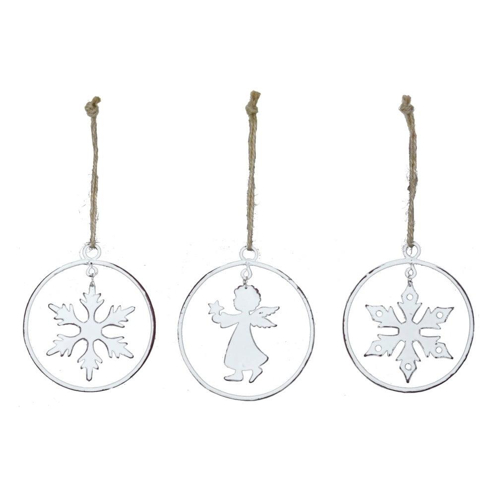Sada 3 závesných vianočných dekorácií v tvare Ego dekor Krúžok