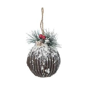 Set 2 dekorácií Brown Ball