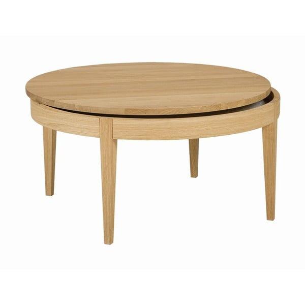 Odkladací stolík Secret Oak, 80x40 cm