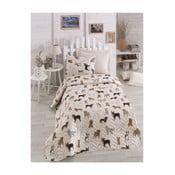 Krémové detské obliečky na jednolôžko Peritos, 160 x 220 cm