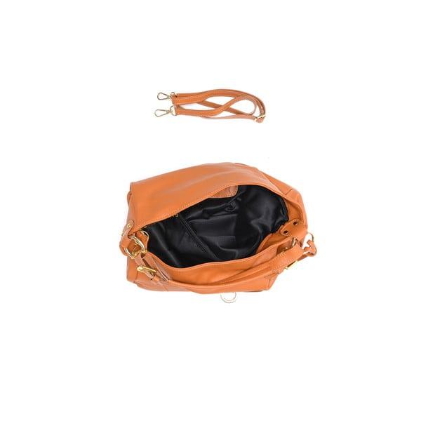 Kožená kabelka Tote 2087 Cognac