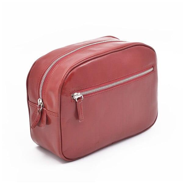 Kožená kozmetická taška Ferruccio Laconi Red
