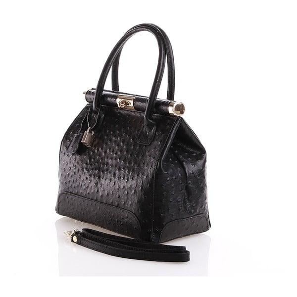 Kožená kabelka Rosalind, čierna