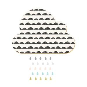 Dekoratívne samolepiace nástenka Dekornik White Cloud With Pastel Drops