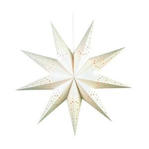 Svietiaca hviezda Solvalla White, 75 cm