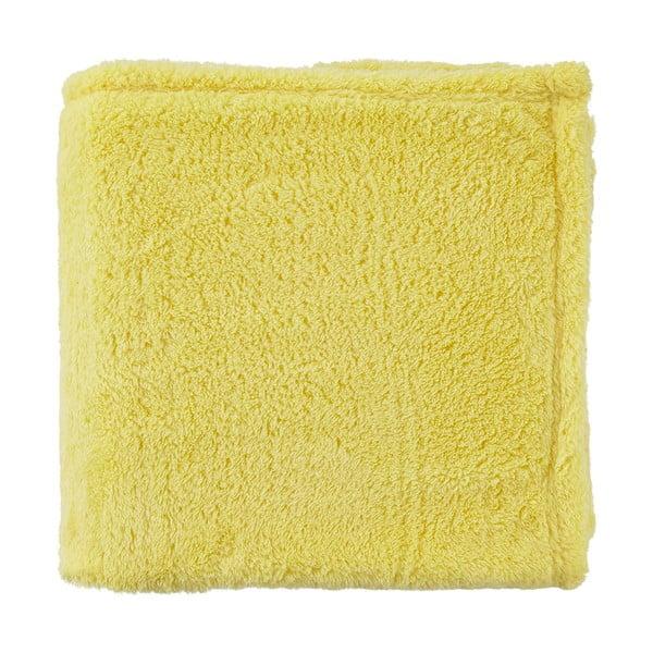 Fleecový pléd Moss 130x180 cm, žltý
