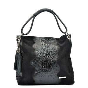 Čierna kožená kabelka Luisa Vannino Marita