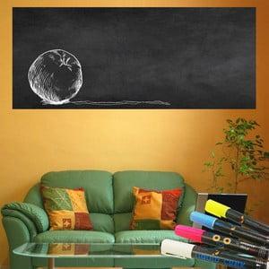 Set nástennej tabuľovej samolepky a 4 fixiek Ambiance Giant Chalkboard, 60×200 cm