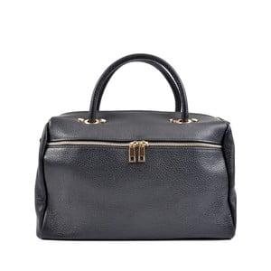 Tmavomodrá kožená kabelka Roberta M